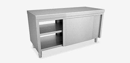 armoire basse inox
