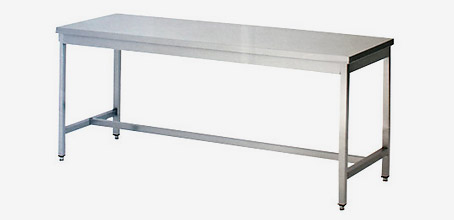table inox pied carré
