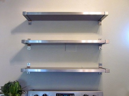 Tag re en inox pictures to pin on pinterest for Etagere metal pour cuisine